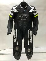 Spada Curve Evo TT 1 Piece Leather Motorcycle Race Suit Black / FLUO LADIES LADY