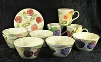Culinary Arts Studio - Mug Bowl Salad Plate - Apple Cherries Pear Grapes Plum