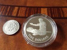 RARE KIRIBATI 5 DOLLARS 1979 Silver PF INDEPENDENCE - Mint CAMEO PROOF UNCIRC