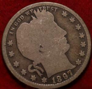 1897-S  San Francisco Mint Silver Barber Quarter