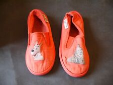 HERGE TINTIN BOITE A CHAUSSURES AVEC CHAUSSURES POINTURE 27 TINTIN SHOES