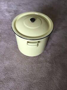 Vintage Enamel Bin