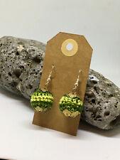 Handmade earrings - boho chic-cute -drop earrings-green earth design