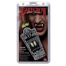 Vampire Fangs Classic Glow In The Dark Deluxe Custom Fangs by Scarecrow Dracula