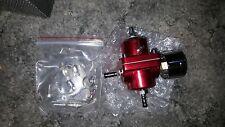 RED  Type-S UNIVERSAL Fuel Pressure Regulator with Oil Gauge Honda Toyota Acura