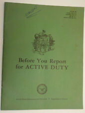 "1965 Vietnam War ""Before You Report for Active Duty"" Booklet"
