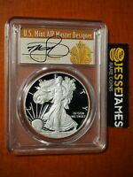 2012 W PROOF SILVER EAGLE PCGS PR70 DCAM THOMAS CLEVELAND SIGNED ART DECO LABEL