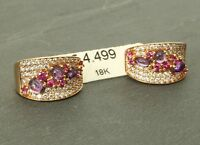 Ohrringe, Diamanten, 0,8 ct, 18 Karat Gold! Creole Gutachten, eVp 4.499,00 €
