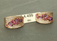 Ohrringe, Diamant, insg. 0,8 ct, 18 Karat Gold! Creole Gutachten, eVp 4.499,00 €