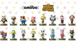 Amiibo ANIMAL CROSSING Nintendo Switch Wii U Amiibos combine postage