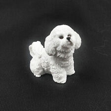 Resin MINI Bichon frise dog Hand Painted simulation model Figurine Statue