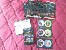 STAR TREK 13 SEALED FOIL PACKS OF TNG STARDISCS + 3 CARDS NOT IN PACK