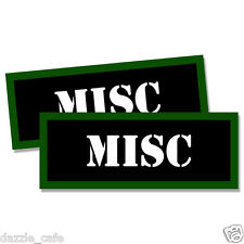 """MISC Ammo Can 2x  Labels Ammunition Case 3""""x1.15"""" stickers MISC decals 2 pack"""