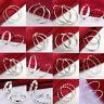 Fashion 925 Sterling Silver Round Charming Hoop Dangle Earrings Women's  Jewelry