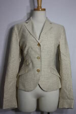 Luciano Barbera blazer 42 new jacket check made in italy cotton linen