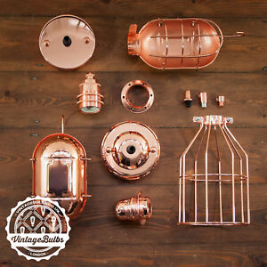 Vintage Copper collection antique retro style light fittings accessories