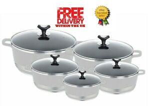 BOSCO GLAXA GREY Aluminium Non Stick Die cast Cooking Pot / Casserole Pot Set