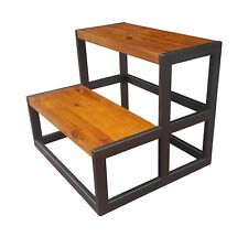 Design 59 inc Acacia Hardwood Step Stool-Bed Steps- NO Assembly Required