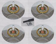 """4 CAP DEAL VOGUE MERLOT ARELLI NOVE NOVI 6-1/4"""" CADILLAC WHEEL RIM CENTER CAPS"""