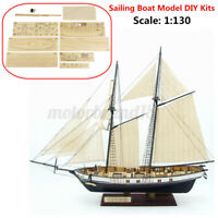1:130 DIY Scale Ship Model Assembly Kit Classical Wooden Sailing Boat Decor Gift
