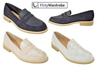 Loafers Brogues Flat Suede Comfy Casual Classy Footwear Shoes UK Womens Ladies