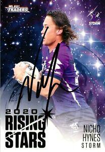 ✺Signed✺ 2021 MELBOURNE STORM NRL Card NICHO HYNES Rising Stars