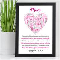 Mummy Mum Nanny Nan Granny Auntie Personalised Birthday Gifts for Her Mum Mam