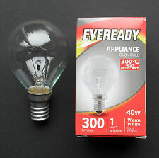 Oven Bulb Appliance Lamp 300 deg C, Golf Ball, SES base 40w 240V E14 by Eveready