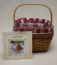 Longaberger 2001 All American Strawberry Basket w/ Liner Protector & Certificate