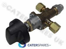 6MM COMPRESSION CATERING EQUIPMENT GAS GRIDDLE CONTROL VALVE & KNOB OFF-LO-HI