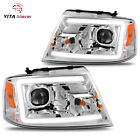 For 2004-2008 Ford F-150 F150 Pickup LED DRL Tube Projector Lamp Headlights  for sale