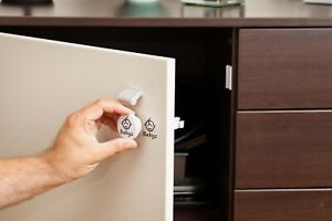10 Magnetic Baby Cupboard and Drawer Lock set with adaptor