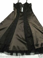 BNWT PER UNA SIZE 12R CHOCOLATE MIX LADIES LINED PARTY DRESS (RRP £49.50) 5L
