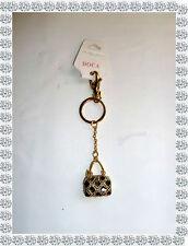 Porte Clés Bijou de Sac Doré Petit Sac Noir Strass  Doca Fashion Jewelry