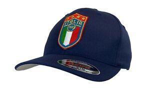 Flexfit Italia Soccer Hat Italy FIGC Italian Football Club Blue XXL