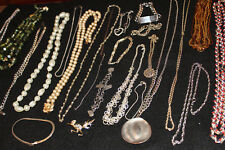 Lot Vintage Modern Necklaces Rope Chain ID Bracelet Costume Cocktail Jewelry