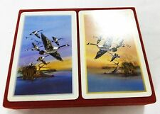 Playing card vintage goose in velvet red box birds card set