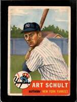 1953 TOPPS #167 ART SCHULT VG RC ROOKIE YANKEES  *X01299
