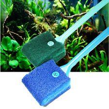 2 Head Cleaning Brush Plastic Sponge Aquarium Glass Algae Cleaner