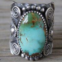 Damen Boho Türkis Opal Ringe Natürlicher Edelstein Ring Unisex Schmuck Größe6-10