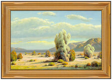 Paul Grimm Large Original Western Landscape Painting Oil On Canvas Signed Art