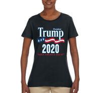 Trump 2020 MAGA Keep America Great USA Womens Political T-Shirt