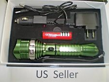 Green 1600 LM Waterproof XML T6 LED Zoomable 18650 flashlight Torch Brand New
