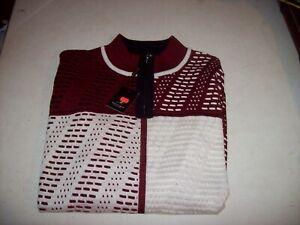 Montique International Men's 2XL XXL Red 1/4 Zip Sweater NEW W/ TAGS
