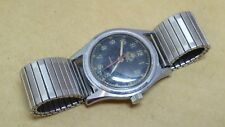 Gents Muralt watch, military chronograph style, stainless steel case, working.