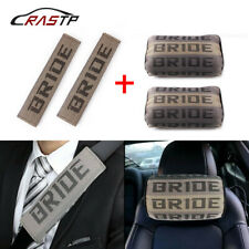 2pair Jdm Bride Gradation Neck Headrest Pillow Amp Car Seat Belt Cover Set