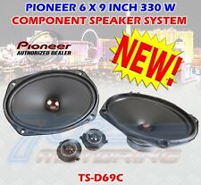 "PIONEER TS-D69C 6 X 9"" COMPONENT SPEAKER SYSTEM 330 WATTS MAX WOOFERS + TWEETERS"