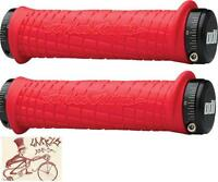 ODI TROY LEE LOCK-ON RED BMX-MTB BICYCLE GRIPS