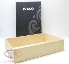 IVECO Geschenkbox Präsentbox aus Holz mit Kartondeckel ca. 40 x 26,5 x 9,5 cm