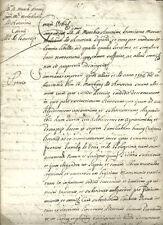 Bologna Antico Manoscritto 1615 Causa del Marchese Antonio Melchiorre Amorini